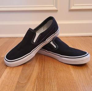 Vans Black Classic Slip-Ons